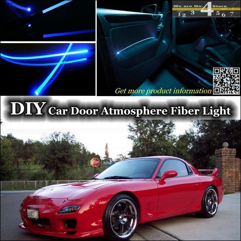 Für Mazda Savannengebieten RX7 RX-7 RX 7 FC FD innen Umgebungslicht Tuning Atmosphäre Fiber Optic Band Lichter Türverkleidung beleuchtung