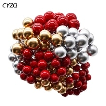 50 pz/lotto Mini Perla di Plastica Finto Bacche Fiore Artificiale di Frutta Stami di Nozze A Casa FAI DA TE Scatola Regalo Decorata Ghirlande