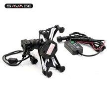 Soporte de navegación GPS Cable cargador USB para KAWASAKI ZX-6R NINJA 650 1000 NINJA650 NINJA1000 2011-2020 soporte