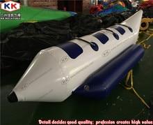 0.9mm pvc tarpaulin custom inflatable single hull banana boat, banana inflatable river boat