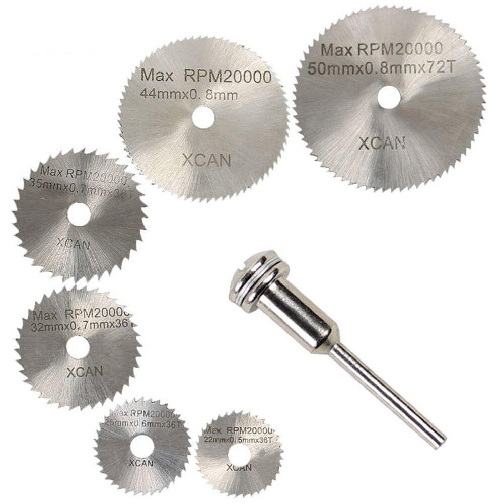 "6PCS Small Ultra-Thin Saw Blades Rotary Tool Circular Saw Blade Mandrel -1/8"" Shank for Rotary Tools Electric Grinding Tool"