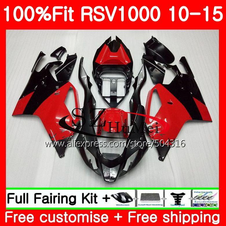 حقن ل ابريليا Mille RSV1000 10 11 12 13 14 15 جديد أسود أحمر 83SH21 RSV 1000R R RSV1000R 2010 2011 2012 2013 2015 هدية