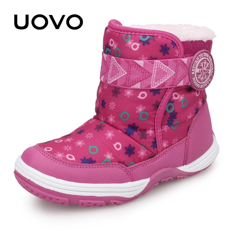 الشتاء أحذية أطفال UOVO 2021 جديد وصول أحذية دافئة أفخم الموضة الفتيان والفتيات الثلوج الأحذية حجم #28-36