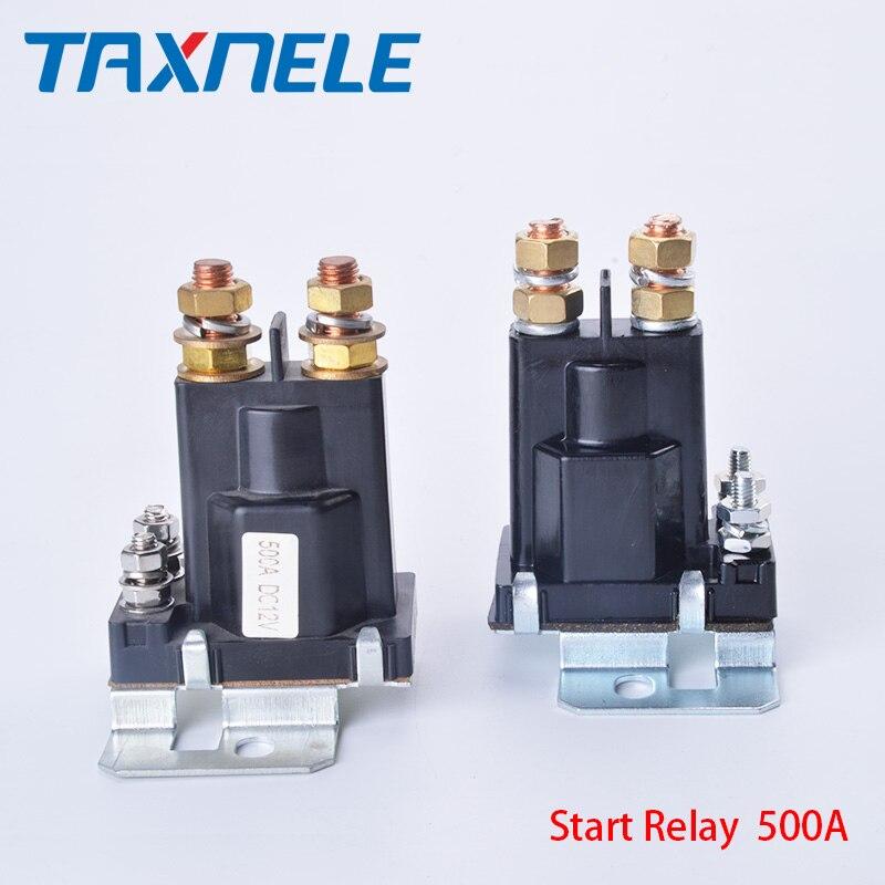 Dual Batterie Starten relais 4 Pin Großen Strom 500A 12V 24VDC Auto Power Schalter, Starten Relais, auto Starten Schütz, Schwere strom