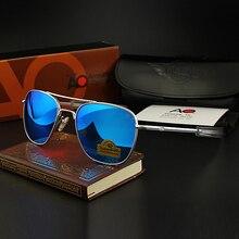 AO Sunglasses Colour Glass Lens Men Brand Designer American Army Military Pilot Sun Glasses OP55 OP5
