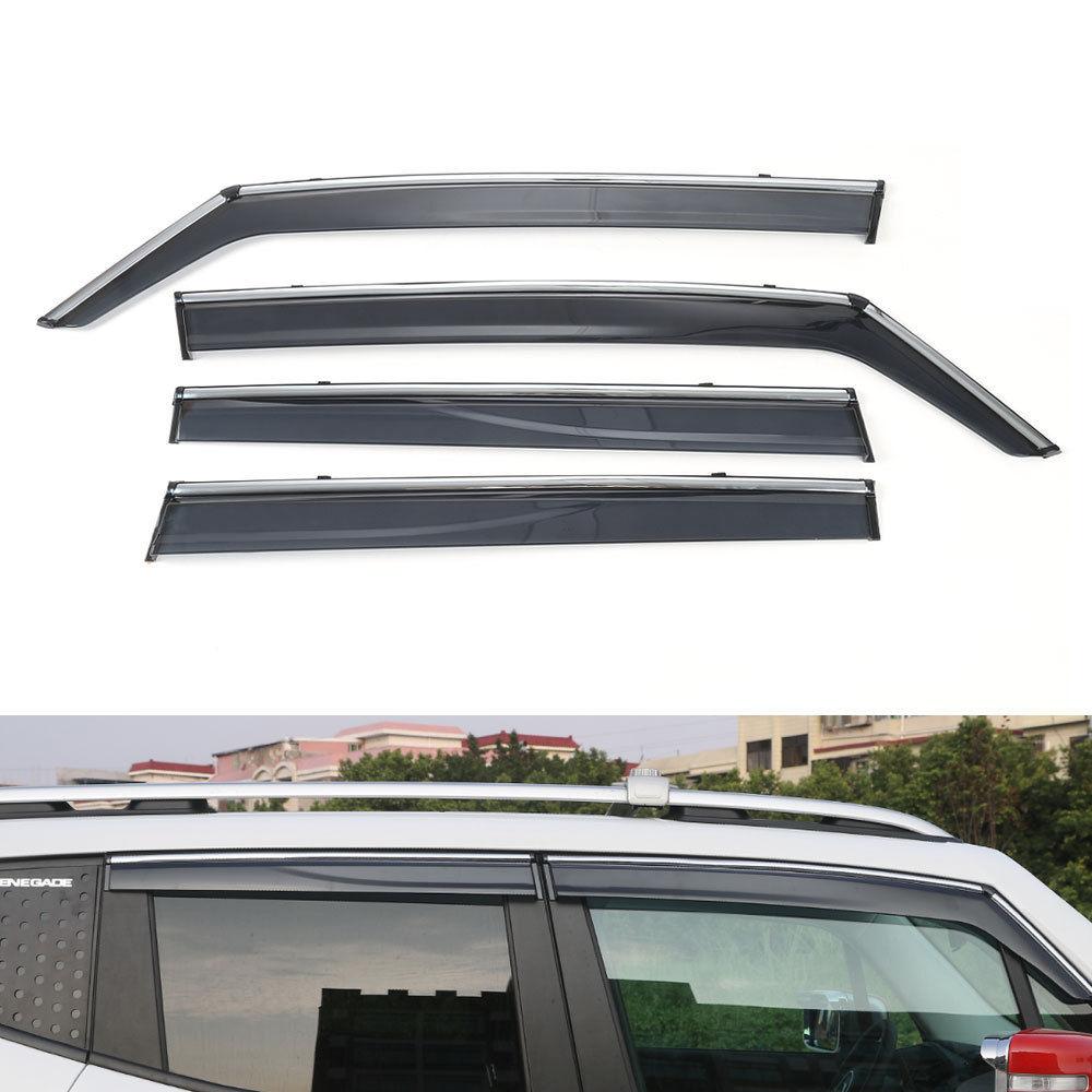 BBQ @ FUKA 4x, visera brillante para ventana de coche, parasoles, protector de lluvia y sol, cubierta, pegatina de estilo para Jeep Renegade 2015 2016