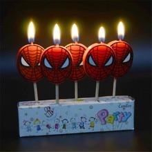 Bougies danniversaire Spiderman 5 pièces/ensemble   Toppers bougies Cupcake pour enfants, décorations de fête anniversaire, fournitures de fête