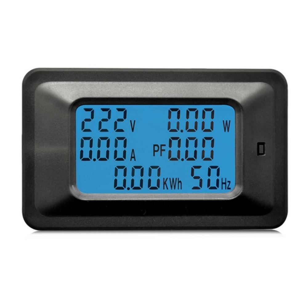 100A AC Digital LCD Monitor de Painel Medidor De Energia Watt Tensão Voltímetro Amperímetro Atual Indicador Tester para Eletrodomésticos