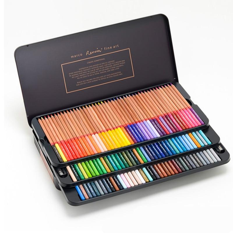 Juego De lápices De Colores, Set De 12/24/36/48/72/80/100/120 Colores oleosos solubles en...