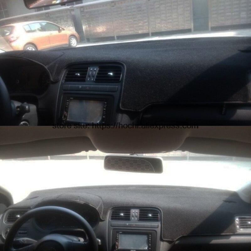 Двухслойный силиконовый коврик для приборной панели Volkswagen VW Polo, коврик на платформе для приборной панели автомобиля, антибликовые коврики ...