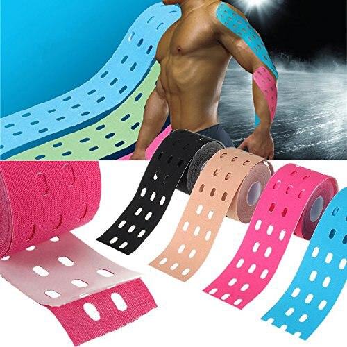 Un rollo 5m * 5cm músculos Kinesiología cuidado deportivo cinta elástica fisiológica terapéutica
