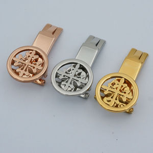 MAIKES High Quality Stainless Steel Watch Button Folding Clasp Buckle 18mm 20mm of Watch band Strap Case For Patek