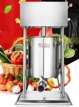 Electirc remplisseur de saucisses horizontal   En acier inoxydable, Vertical Commercial horizontal, remplisseur de saucisses 12L