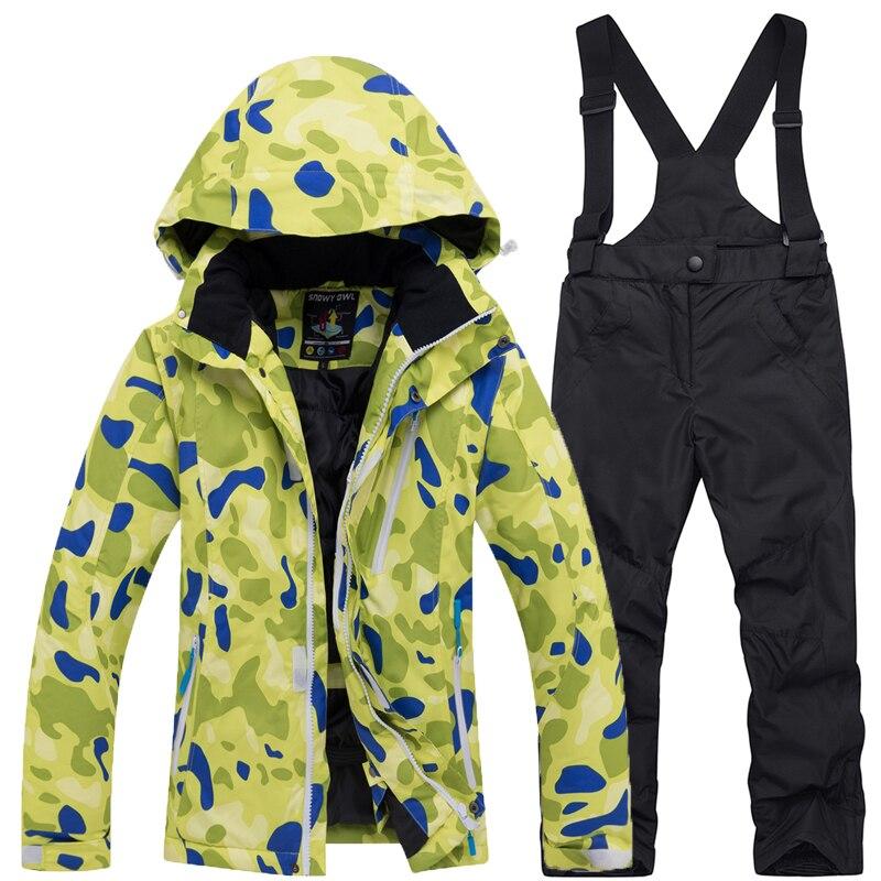 2019 Hot Windproof Children's Ski Suits Winter Suit outdoor Sports Warm Waterproof Suit Girls Jacket + Pants Free Shipping