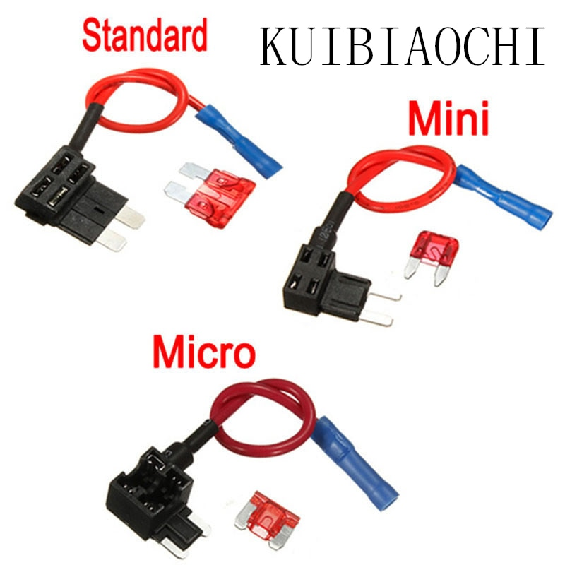Fusible de coche pequeño medio de 12V adaptador Micro/Mini/estándar ATM APM Blade soporte de fusible automático