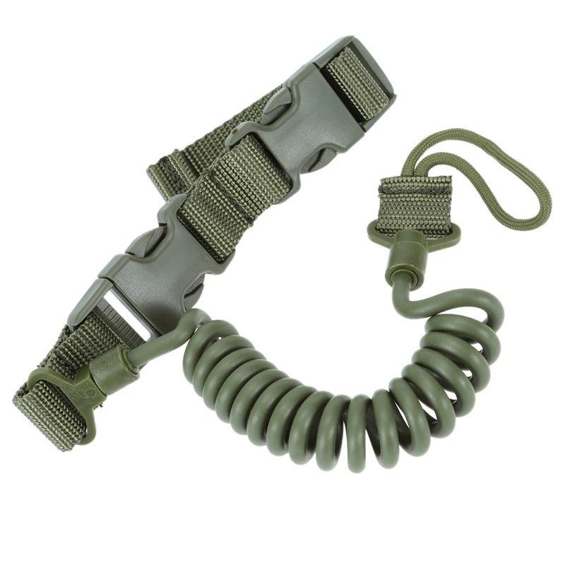 Accesorios de Rifle de caza Bungee cuerda de resorte correa de arma táctica Miltary dos puntos Rifle Sling para Airsoft Paintball caza