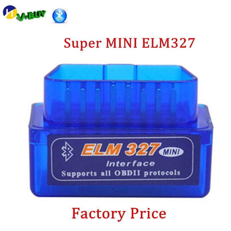 Interface de Diagnostic de voiture   Version Super ELM 327, Bluetooth OBD2, Scanner sans fil ELM327 OBD 2, grande remise