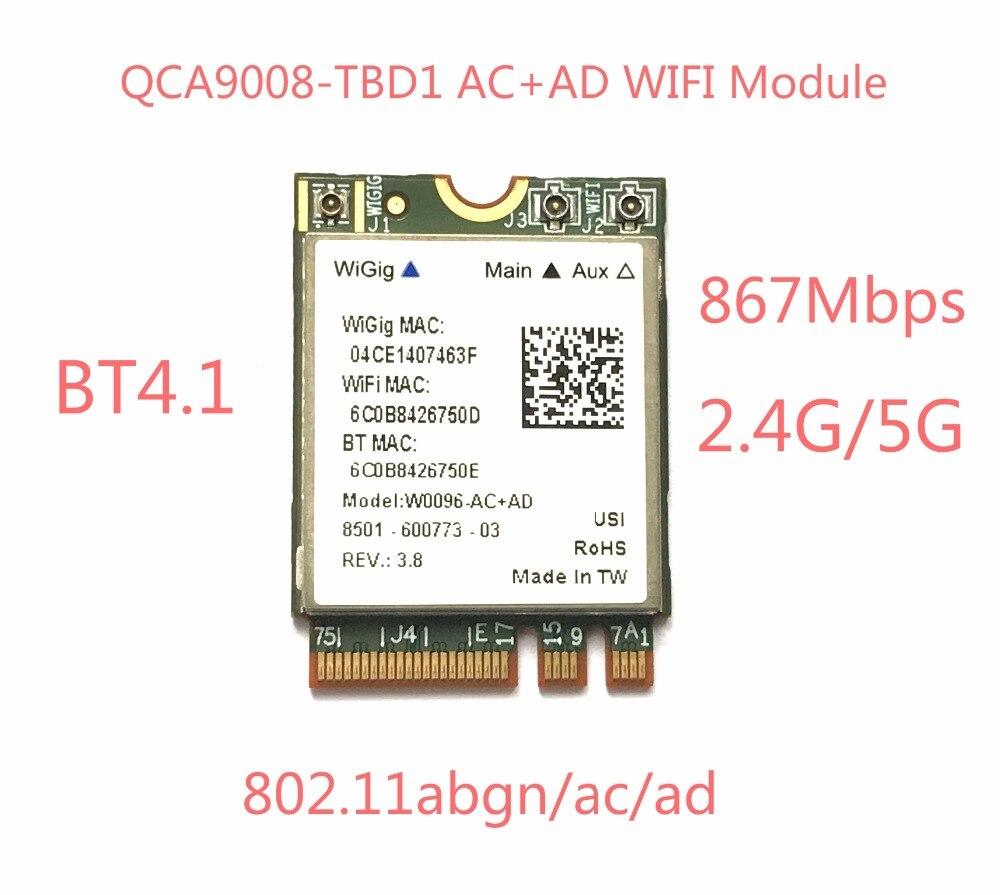Atheros QCA9008-TBD1 Wireless AC+AD Bluetooth 4.1 WIFI Module 2.4G/5G Dual Band WIFI Card 867Mbps