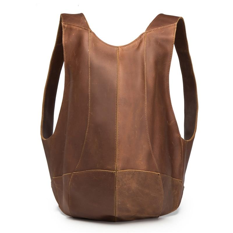 Мужской и женский рюкзак из натуральной кожи на плечо с защитой от кражи на молнии сзади для Ipad, чехол с карманом для телефона, бизнес путешествия, Mochila Escolar подарки