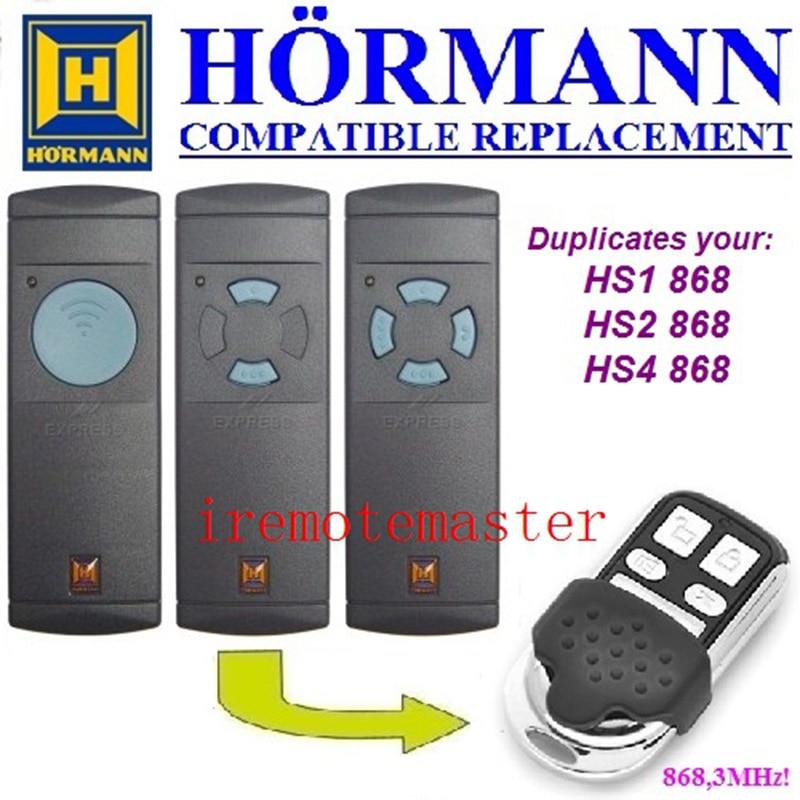 Hormann HS1 HS2 HS4 868 mhz compatibel puerta de garaje duplicador control remoto muy bien