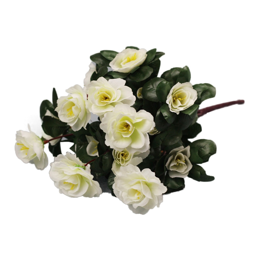 Falso Flores de Decoração Para Casa de Plástico Falso Flor Simulação De Cártamo Azaléia Início Do Casamento Do Jardim Decoração K404