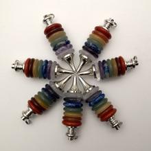 Подвеска из натурального камня 7 Reiki Chakra, ожерелье с подвеской и колесами из натурального камня, Самоцветы для изготовления ювелирных издели...