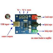 PCM2704 USB DAC à S/PDIF carte son décodeur carte 3.5mm sortie analogique F/PC carte livraison gratuite