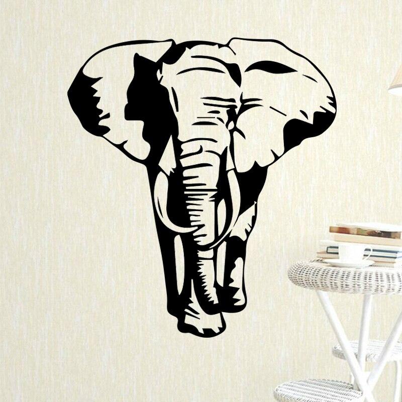 Pegatina de pared de elefante para niños, vinilo de decoración del dormitorio, pegatina de pared, papel tapiz para habitación de niños, póster de vinilo decorativo elefante