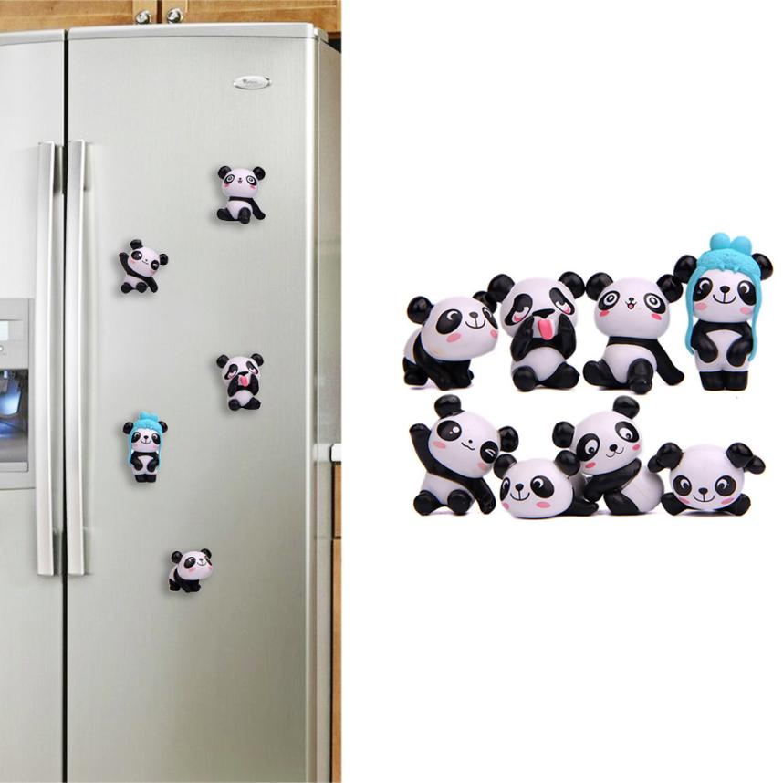 8PCS Cute Panda Fridge Magnets Sticker Toy Refrigerator Decoration Holder Home Decor Gifts 2o0815