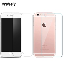 Front LCD Screen Protector Back Cover trasparente Tempered Glass Protective HD Film Shield For iphon