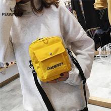Women's Messenger Bag Mobile Phone Bag Letter Print Sports Shoulder Messenger Handbags Unisex Canvas Crossbody Bag Dropshipping