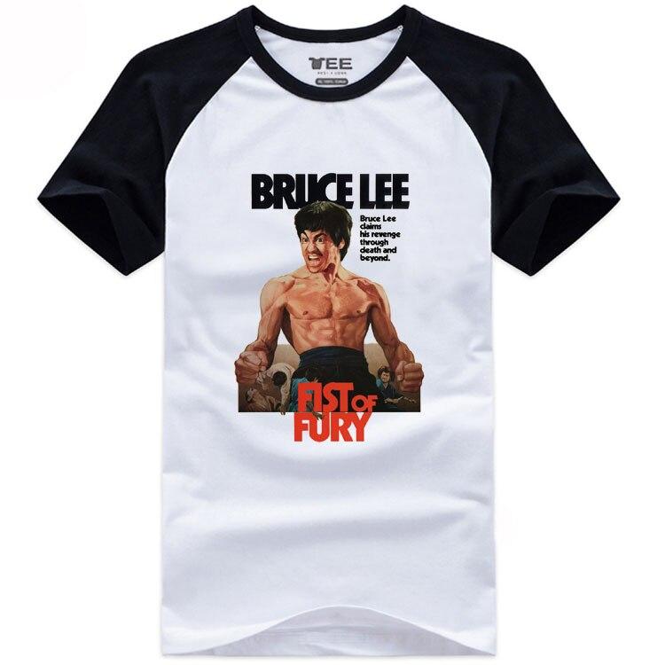 Estilo de verano kungfú chino Wing chun camisetas Bruce Lee Fist FURY Camiseta de algodón para hombres y mujeres