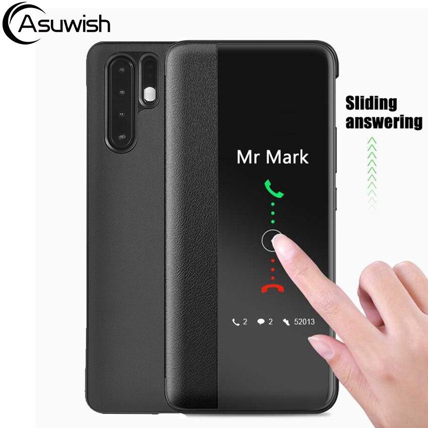 Кожаный чехол-книжка для Huawei P30 P40 Pro P30pro P20 Lite P10 Plus P 30 20 10 P10plus P20lite P20pro Smart View