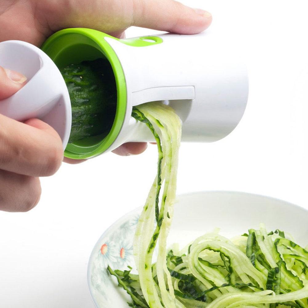 Cocina multi-función espiral embudo verduras rallador ABS y acero inoxidable zanahoria pepino helicóptero vegetal cuchilla peeler