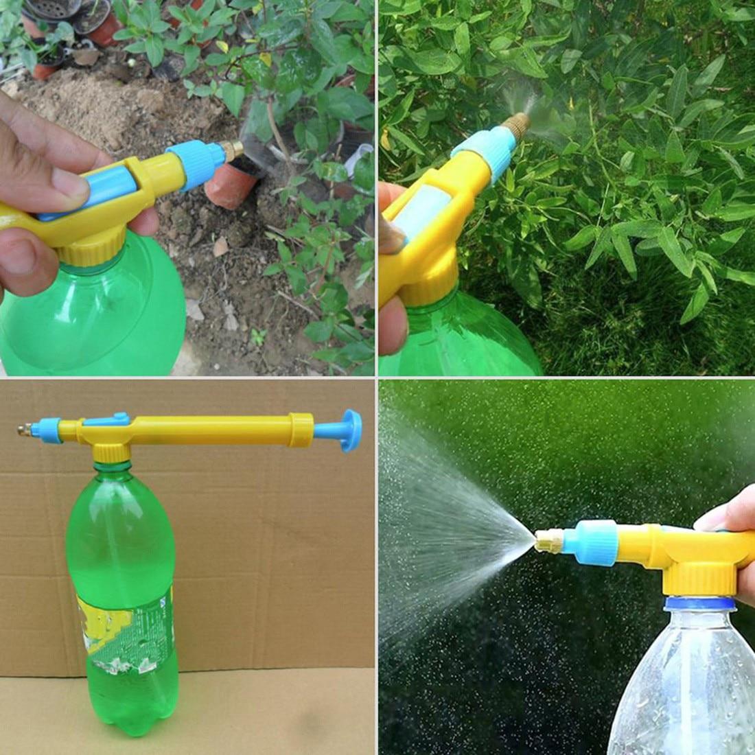 Mini botellas de zumo interfaz plástico carro pistola rociador cabeza agua presión