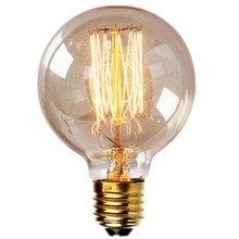 1 pièces grand rond Edison Antique 40 W E27 G95 blanc chaud rétro Dimmable décoratif incandescente Vintage Edison ampoule 220-240 V