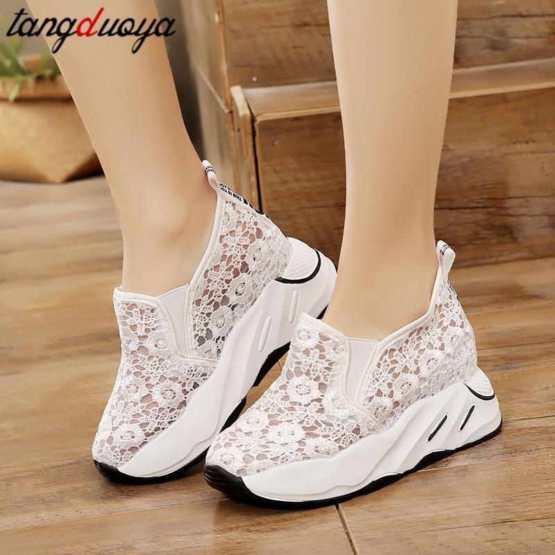 Zapatos de suela gruesa para mujer, zapatos de plataforma para mujer, zapatos informales transpirables, mocasines para mujer 2020, zapatos para mujer