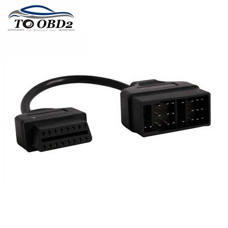 Для Toyota 22Pin к OBDII 16Pin гнездовой разъем адаптер кабель DLC свинец для Toyota 22 Pin гнездовой к OBD2 16 Pin Бесплатная доставка
