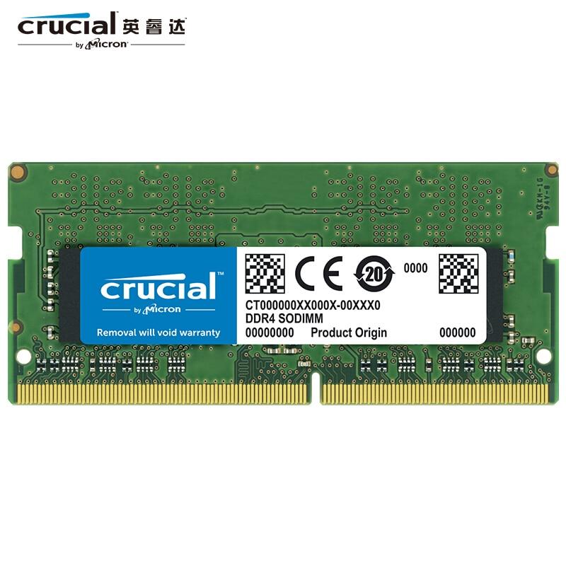 حاسمة 8 جيجابايت 16 جيجابايت DDR4 ذاكرة عشوائية 2666 MT/s (PC4-21300) SR x8 SODIMM RAM 1.2 فولت 260 دبوس لأجهزة الكمبيوتر المحمول