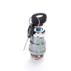 Universal 12v barco do carro da motocicleta interruptor chave de partida ignição barril 4 posição com 2 chaves