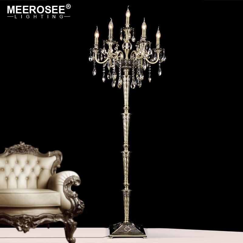 Lámpara De Pie De Cristal Vintage, accesorio De luz, candelabro De Cristal, decoración De alta calidad, Pie
