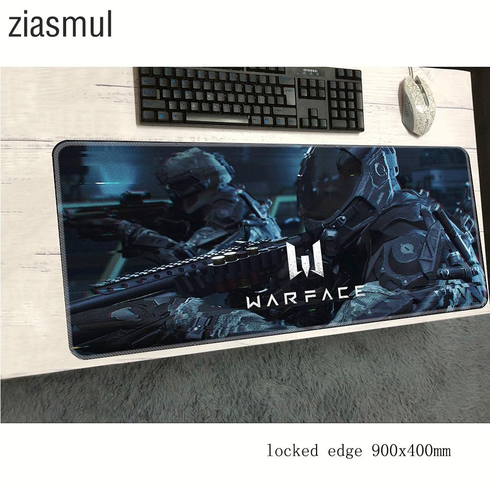 Alfombrilla para ratón de warface 900x400x2mm alfombrilla de gel alfombrilla de ratón de ordenador Accesorios de juego personalidad alfombra para ratón teclado grande juegos pc gamer