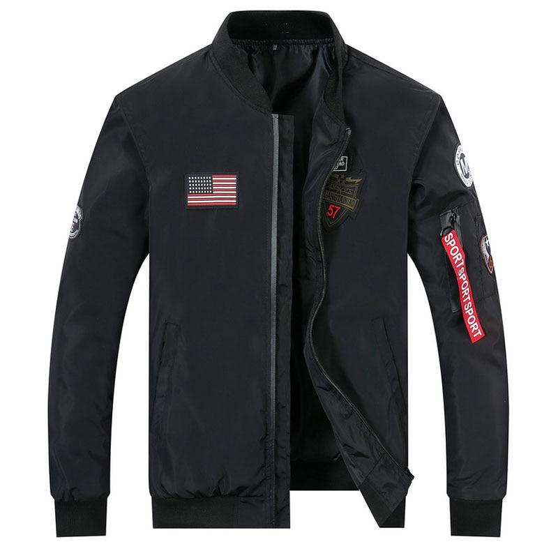 drop shipping 2018 new arrivals autumn men military jacket outwear slim fit pilot bomber jacket coat AXP115