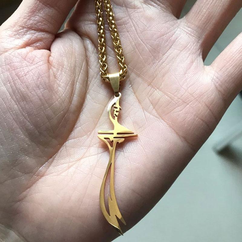 islam HZ Zulfiqar Sword of Imam Ali stainless steel pendant  necklace islam muslim jewelry  accept drop shipping