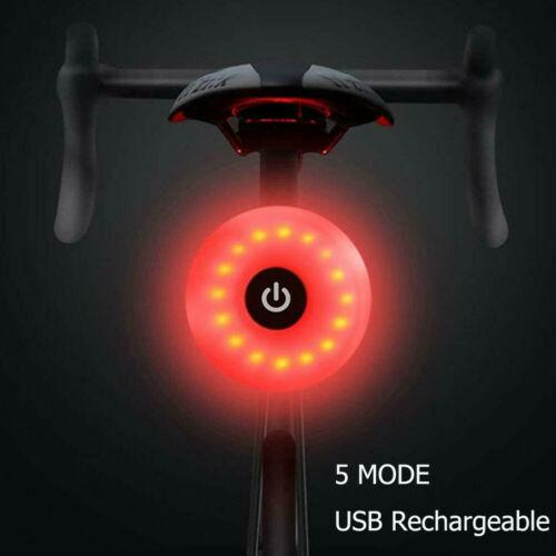 Nueva luz de bicicleta recargable con USB de la lámpara de cola LED bicicleta de advertencia de seguridad lámpara de casco