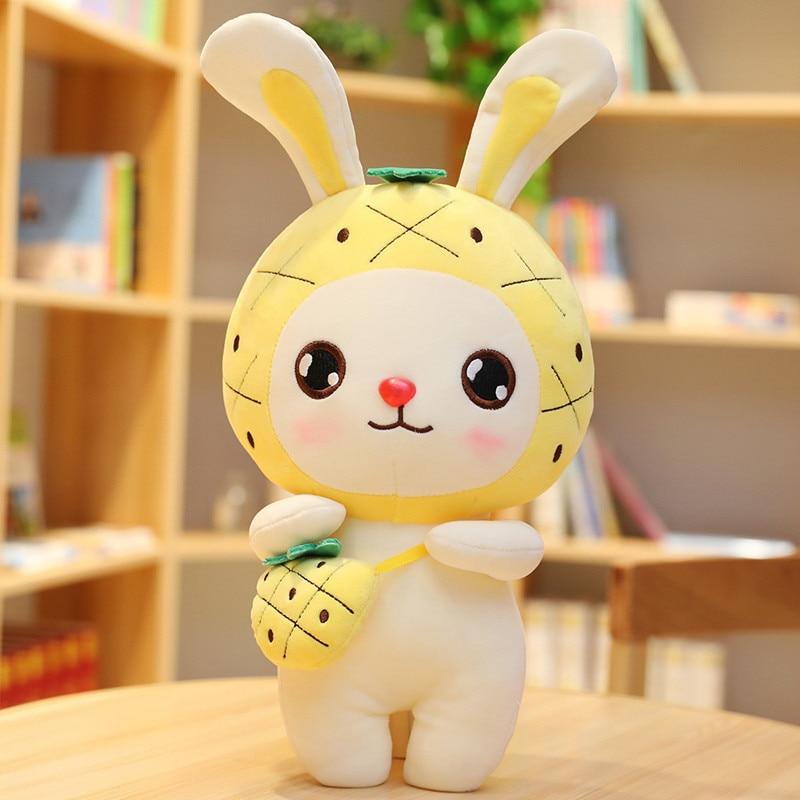 30/45cm Funny Fruits Rabbit Cute Plush Toys Stuffed Dolls Cushion Pillow For Kids Children Valentine Present Girls Baby Girls