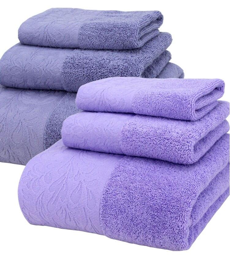 3-pezzi di Cotone Set di Asciugamani di Lusso Solido Telo da bagno Per Adulti Viso Corpo Panno Per Il Viso di Campeggio Doccia Asciugamani Da Bagno toalha de banho