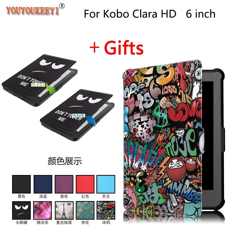 Новая печатная Задняя накладка чехла из ТПУ для kobo Clara N249 Clear HD 6,0
