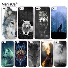 MaiYaCa Wolf housse de téléphone dorigine en plastique pour iphone SE 2020 11 pro 8 7 66S Plus X 5S SE XR XS MAX étuis mobiles