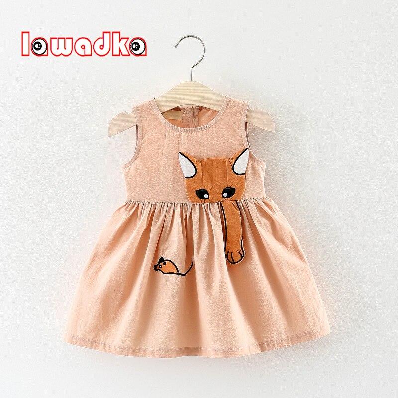 Lawadka Kid Girls Dress Summer Children Clothing Sleeveless Cat catch Mouse Kids Dresses For Girls Princess Birthday Clothes